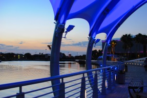 RiverWalk at sunset