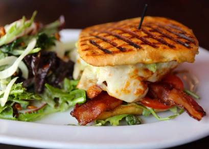 Roast Chicken Panini, photo by Marlow's Tavern