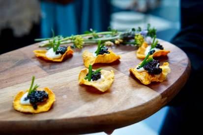 Caviar + Sweet Potato Chip